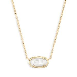 NWT Kendra Scott Elisa Gold Pendant Necklace Pearl